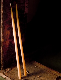 Beeswax Thin Taper Candles